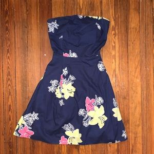 Navy and floral Lilly Pulitzer Dress